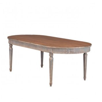 Cassis Rustic Wood Dining Table