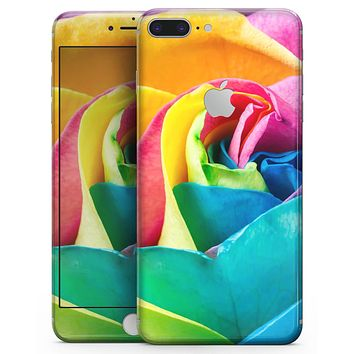 Rainbow Dyed Rose V2 - Skin-kit for the iPhone 8 or 8 Plus