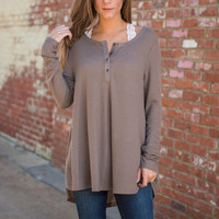 Just Lounging Top, Mocha