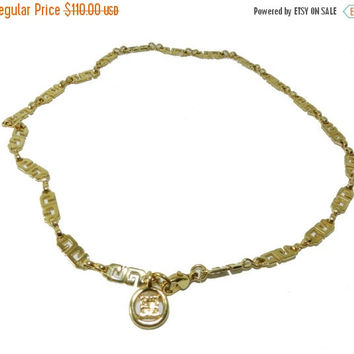 SALE :-) Givenchy Paris New York Necklace, Givenchy Signed Logo Necklace, Vintage Jewelry Jewellery, Collectible Designer Vintage