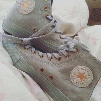 DCKL9 Converse All Star Hi Leather Ash Grey Rose Gold Exclusive - Hers trainers