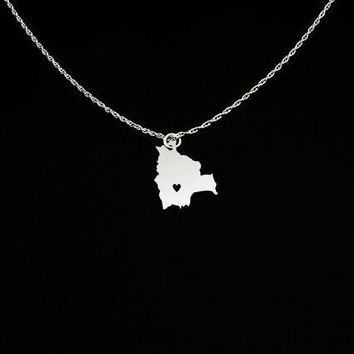 Exquisite Bolivia Jewelry Bolivia Charm Necklace Personalized Names Or Letters Travel Gift For Friend Dropship Accepted YP4105