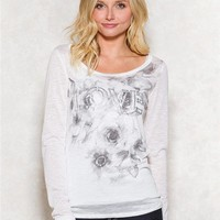Spoiled Floral Love Graphic Top