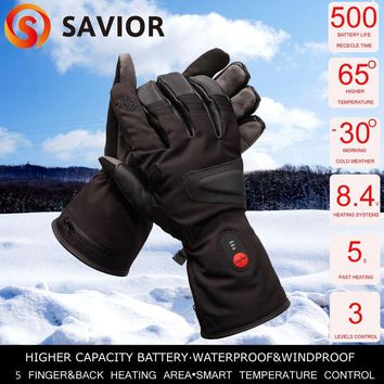 SAVIOR hunting  fishing heated glove winter riding racing heating gloves 3 levels control  man keep warming 2.5-6 hrs SHGS24B