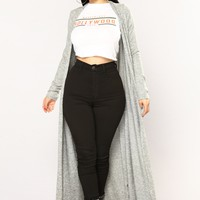 Oriana Duster - Heather Grey