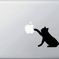 Black Cat Waving Decal for apple macbook Sticker air 11 12 13 pro 13 15 17 retina Pegatinas Laptop Wall Car Logo Vinyl Skin