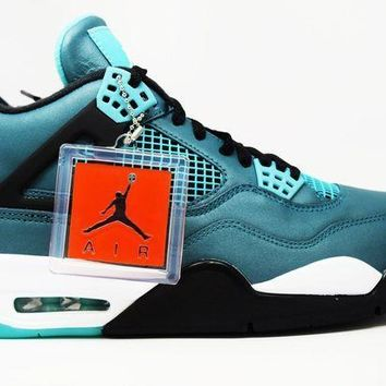 Air Jordan 4 Retro 30th Teal Basketball Shoes <>