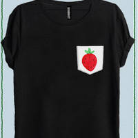 STRAWBERRY WOMEN POCKET T-SHIRT code50863