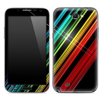 Neon Striped Flash Skin for the Samsung Galaxy Note 1 or 2
