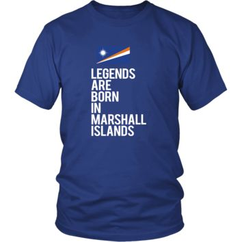Marshall Islands Shirt - Legends are born in Marshall Islands - National Heritage Gift