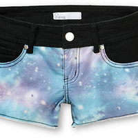 Empyre Galaxy Black Denim Shorts
