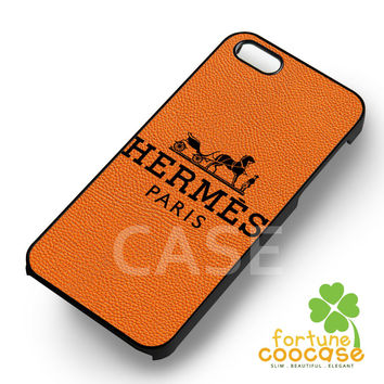 Hermes logo orange leather-1nn11 for iPhone 6S case, iPhone 5s case, iPhone 6 case, iPhone 4S, Samsung S6 Edge