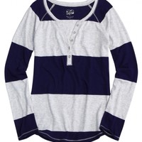 Striped Henley | Girls Long Sleeve Tops & Tees | Shop Justice