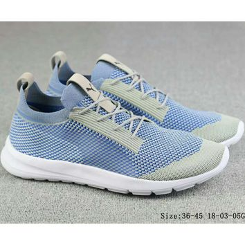 Puma Duplex Evoknit Knit Casual Fashion Sports Running Shoes F-A-FJGJXMY blue