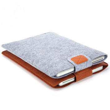 2017 Premium Soft Sleeve Bag Case Notebook Cover for 11in 13in 15in Macbook/Laptop/Tablet PC Fashion Pure Felt
