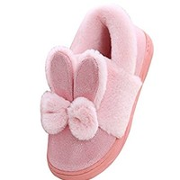 Cattior Womens Footcoverings Warm Bunny Slipper Shoes Fuzzy Slippers