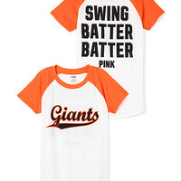 San Francisco Giants Short Sleeve Baseball Tee - PINK - Victoria's Secret
