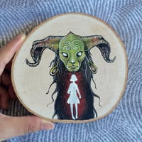 Pan's Labyrinth Original Gouache Mini Fairytale Painting on Wood