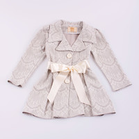 Mia Belle Baby Silver Scallop Pleated Jacket - Girls | Something special every day