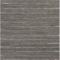 Anthracite Hides and Leather Area Rug Black, Blue