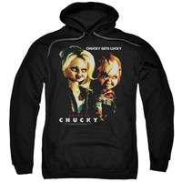Bride Of Chucky - Chucky Gets Lucky Adult Pull Over Hoodie