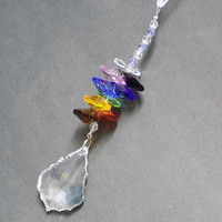Crystal Chakra, Car Hanging Prisms, Rearview Mirror Car Charm, Crystal Car Accessories, Rainbow Maker