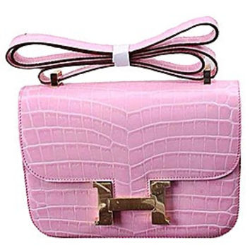 Hermes Constance Crocodile Leather Pink 608108