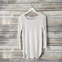 Anna Ribbed Cream Sweater