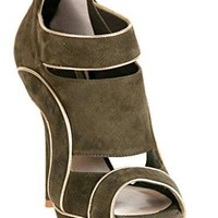 Christian Dior Wave Green Suede Sandals 35.5 US 5.5