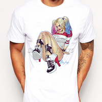Suicide Squad Harley Quinn Lean Back Printed T-Shirt