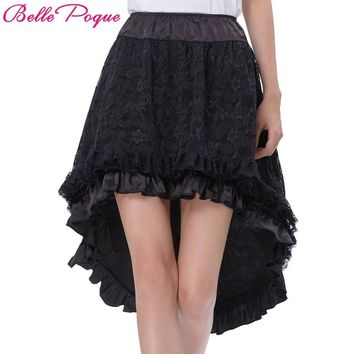 Steampunk Skirt Women Lace Victorian Gothic Clothing Ruffled Skirts