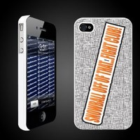 "Bridesmaids Movie Quote ""Snowball off of that..Fight Club!"" - WHITE Protective iPhone 4/iPhone 4S Hard Case."