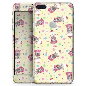 The Fun Colorful Gumball Machine Pattern - Skin-kit for the iPhone 8 or 8 Plus