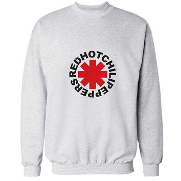 red hot chili peppers sweater White Sweatshirt Crewneck Men or Women for Unisex Size with variant colour