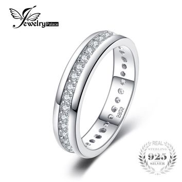JewelryPalace Classic Band Wedding Ring 925 Sterling Silver Fshion Jewelry for Women Fine Jewelry and Best Gift for Friend