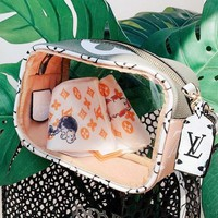 LV Louis Vuitton Fashionable Women Handbag Jelly Shoulder Bag Transparent Crossbody Satchel