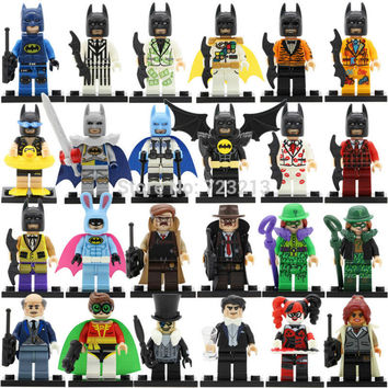 Latest Single sale Figure DC Batman Barbara Gordon Man-Bat Riddler Colossus super hero Building Blocks Models Toys PG8046