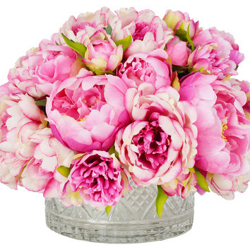 "16"" Peony Arrangement, Faux, Arrangements"