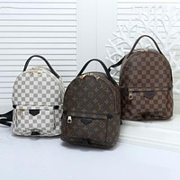LV Louis Vuitton tide brand men and women classic old flower logo wild casual backpack