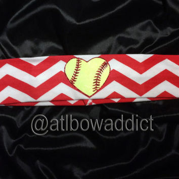 Softball Chevron Headband