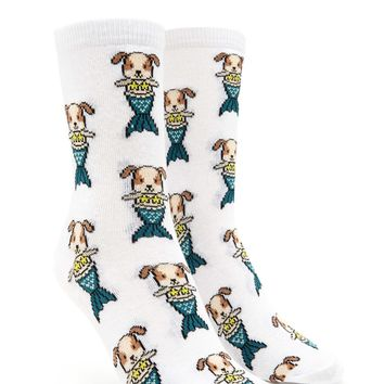 Mermaid Dog Crew Socks