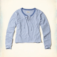 Girls Stripe Lace-Up T-Shirt | Girls New Arrivals | HollisterCo.com