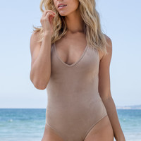 Blue Life - Faux Suede Boogie Nights Body Suit | Sand
