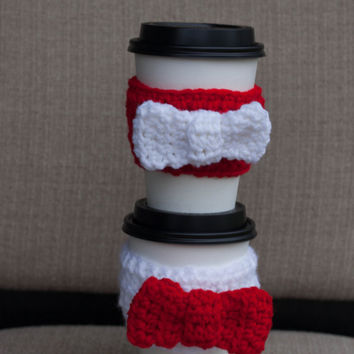 Valentine Day Adjustable Coffee Sleeve - Bow