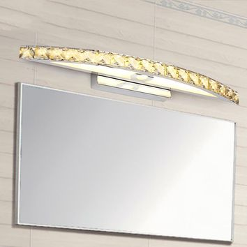 540mm crystal bathroom light 85-265V 15W led wall sconce lamp over mirror bedroom restroom makeup lighting