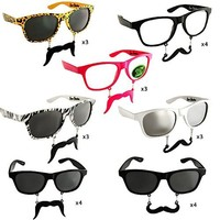"Sun-Staches ""The Original Mustache Sunglasses"" Catch eyes. Turn heads. BE THE PARTY. (24 Piece Set)"