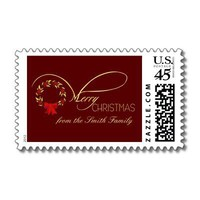 Merry Christmas - Elegant Christmas Postage from Zazzle.com