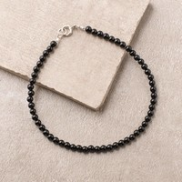 High-Energy Black Onyx Anklet