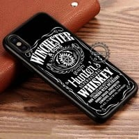 Whiskey Supernatural Winchester iPhone X 8 7 Plus 6s Cases Samsung Galaxy S8 Plus S7 edge NOTE 8 Covers #iphoneX #SamsungS8