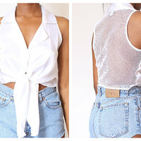 Miss Dior Collar Cropped Tie Blouse M